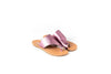 MONA PINK METALLIC FLAT SANDALS