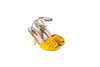 DOLORES YELLOW SUEDE HEELS