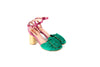 DOLORES EMERALD GREEN SUEDE HEELS