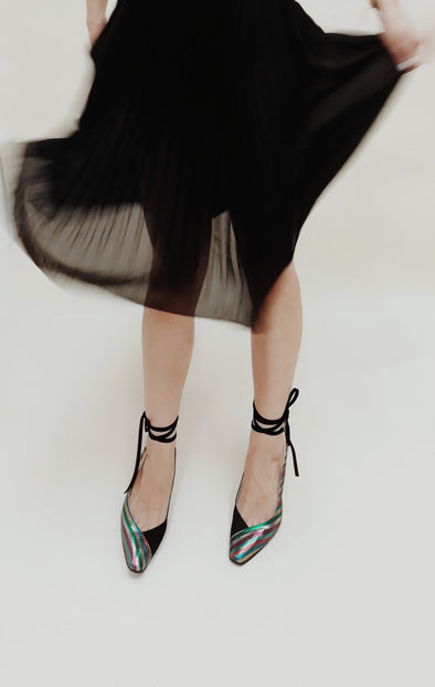 HARPER RAINBOW LACE-UP PUMPS
