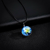 Image of Galaxy & Cosmic Earth Glass Pendant Necklace