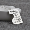 Image of Daddy's Girl Mama's World Pendant Necklace - Father Mother Daughter Necklace Set