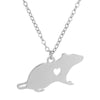 Image of Rat Pendant Necklace - Chinese Horoscope Gift - Zodiac Necklace