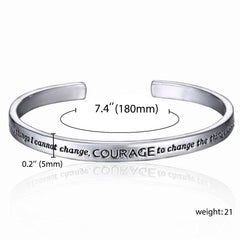 "God Grant me serenity to accept the things ..."" Engraved Bracelet - Christian Jewelry for Women"