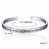 "Image of God Grant me serenity to accept the things ..."" Engraved Bracelet - Christian Jewelry for Women"