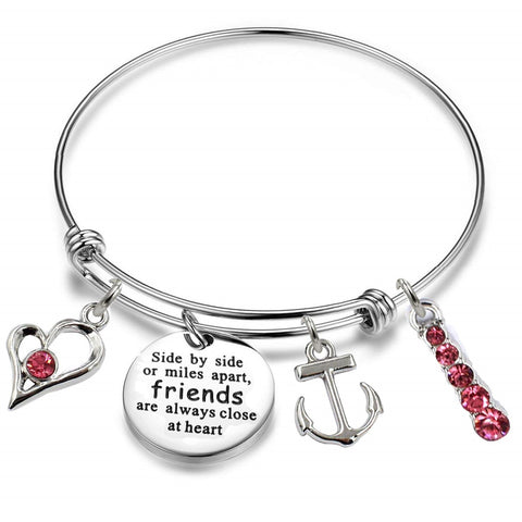 Luvalti Arrows of Friendship Expandable Bangle Bracelet Adjustable Bangle Gift for Friends