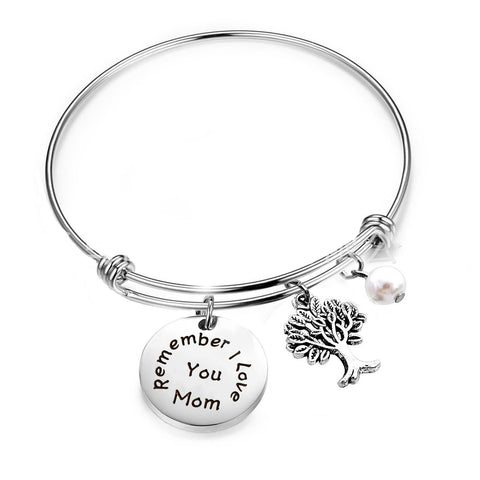 Luvalti I Love You, Mom Expandable Rafaelian Bracelet Mom Bracelet, Mom Son Charm Bracelet Makes The Perfect Mom Gift