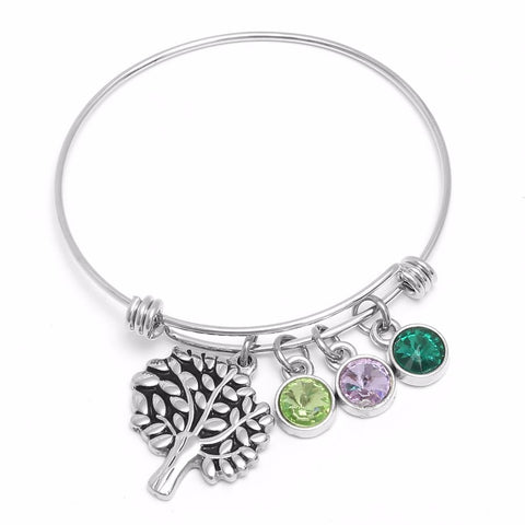 Tree of Life Bangle Bracelet Jewelry - Stainless Steel