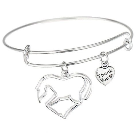 Horse Pendant Bracelet - Animal Lovers Gift