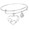 Image of Horse Pendant Bracelet - Animal Lovers Gift