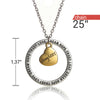 Image of Dream Hope Love Trust Daughter Pendant Necklace