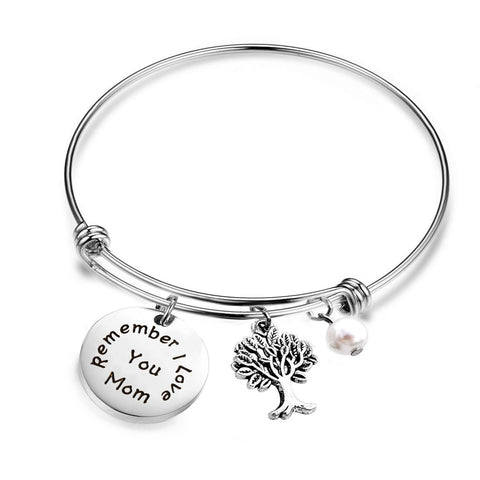 I Love You, Mom Expandable Rafaelian Bracelet Mom Bracelet
