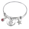 Image of Inspirational Gifts Women Bracelet Bangle Stainless Steel Engraved Adjustable Bangle Gift