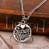 "Image of ""Super Mom"" Charm Necklace"