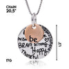 Image of Be Brave Strong Happy Thankful Pendant Necklace