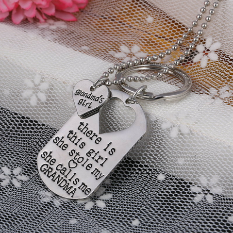 Grandma's Girl Necklace & Keychain Set