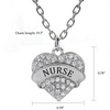 Image of Nurse Heart Charm Pendant Necklace