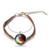 Image of Galaxy & Cosmic Colorful Glass Pendant Bracelet
