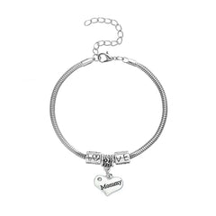 """Mommy"" Charm Heart Bracelet"