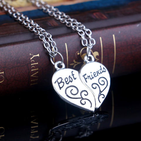 Best Friends Set of 2 Pendant Necklace