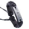 "Image of Luvalti ""I love Jesus"" Black and Silver Leather Bracelet - Christian Jewelry for Men and Women"
