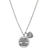 Image of Love between a Grandmother and Granddaughter is Forever Necklace