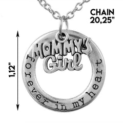 Mommy's Girl Pendant Necklace - Mother Daughter Necklace