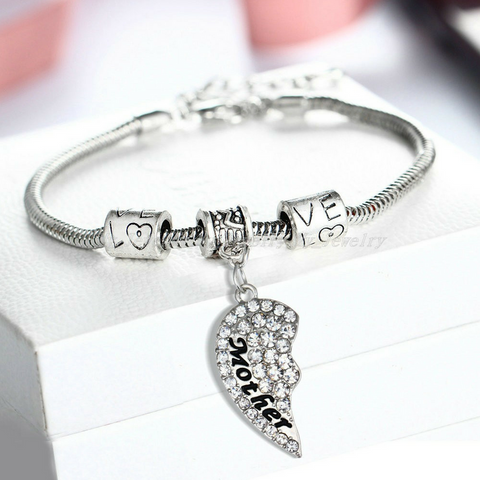 Mother & Daughter Heart Bracelets - Set of 2