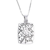 Image of Faith Engraved Pendant Necklace - Christian Jewelry for Women - 18''
