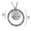 Image of Never Give Up Necklace Inspirational Necklace