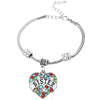 Image of Sister Charm Multi-Color Pendant Bracelet