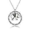 Image of Elephant Pendant Necklace by Luvalti - Love, Dream, Hope, Trust Necklace - Mother Jewelry