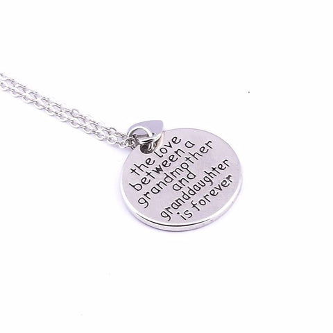 The love between a grandmother and granddaughter is forever - Grandma Charm Necklace