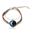 Image of Galaxy & Cosmic Blue Moon Pendant Bracelet