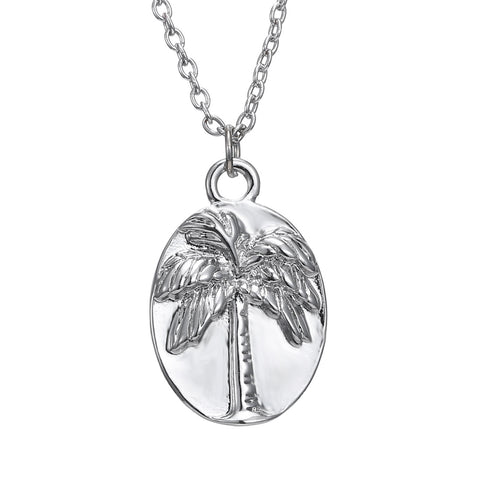 Palm Tree Pendant Necklace Jewelry Bend Never Break