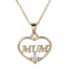 Image of Mum Heart Pendant Necklace - Personalized Jewelry Gift