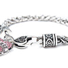 Image of Pink Heart Nurse Charm Bracelet