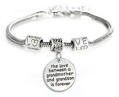 Love between a Grandmother and Grandson is Forever Bracelet