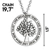 "Image of Tree of Life Pendant Necklace ""Trust Love Dream Hope"""