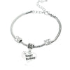 Image of Happy Birthday Heart Charm Bracelet