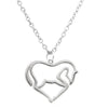 Image of Heart Pendant Necklace Horse Heart Jewelry - Family and Friends Jewelry Gift