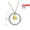 Image of Dream Hope Love Trust Mom Pendant Necklace