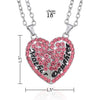 Image of Mother & Daughter Set of 2 Pink Heart Necklaces