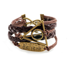 "Luvalti ""Believe"" Leather Bracelet- Christian Jewelry for Men and Women"