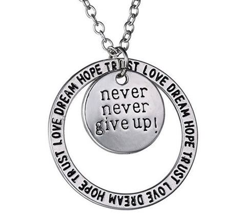 Never Give Up Necklace
