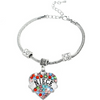 Image of Niece Heart Colorful Charm Bracelet