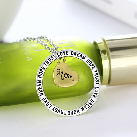 Dream Hope Love Trust Mom Pendant Necklace