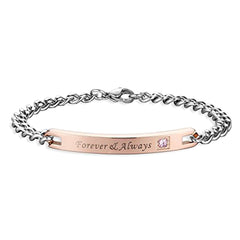 Forever & Always Stainless Steel Bracelet for Women - Gift for Lovers