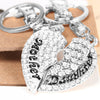 Image of Set of 2 Mother & Daughter Heart Keychain