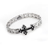 Image of Silver Cross Bracelet - Christian Jewelry for Men and Women